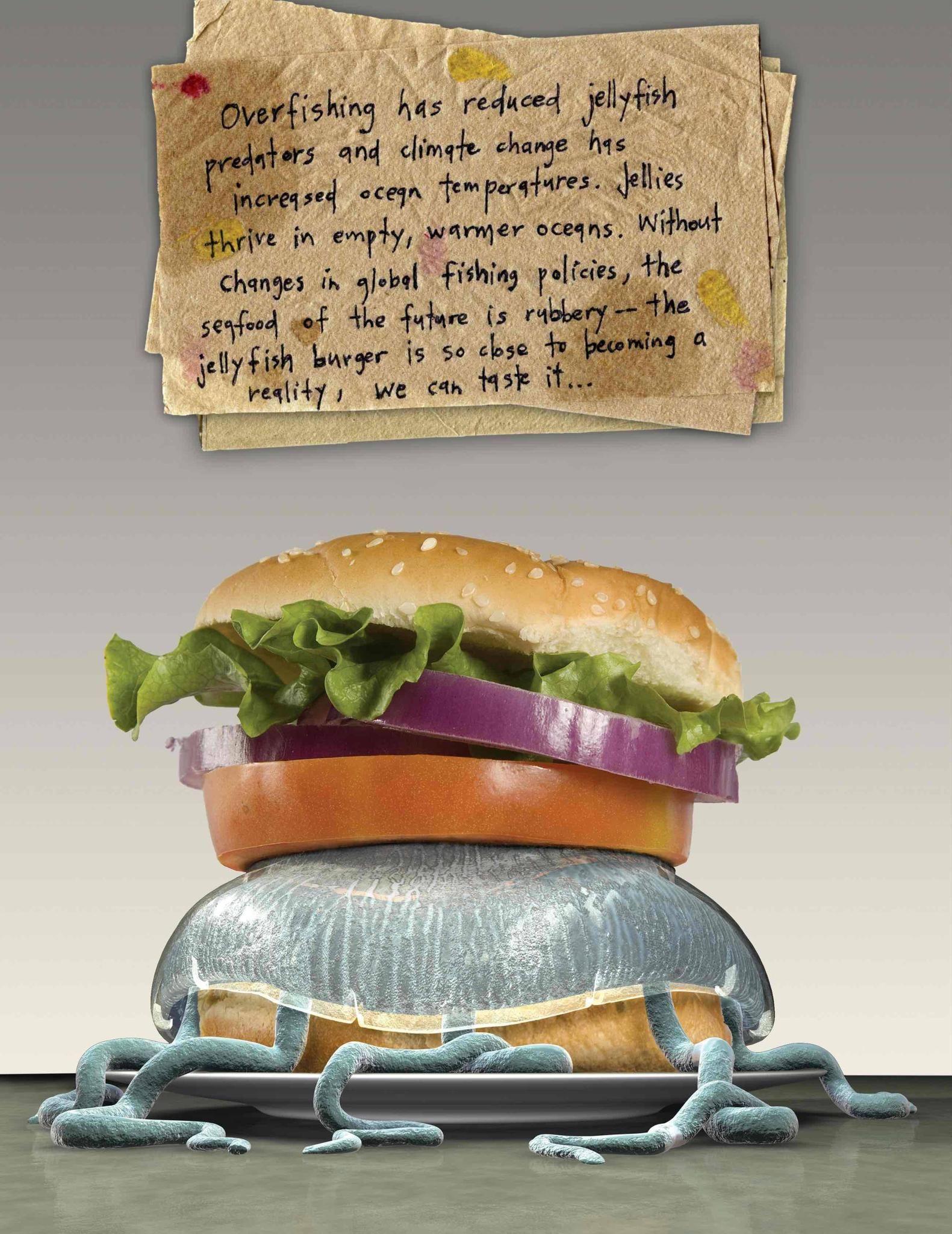 Quallenburger / Fisch / Fastfood / Kunstwettbewerb