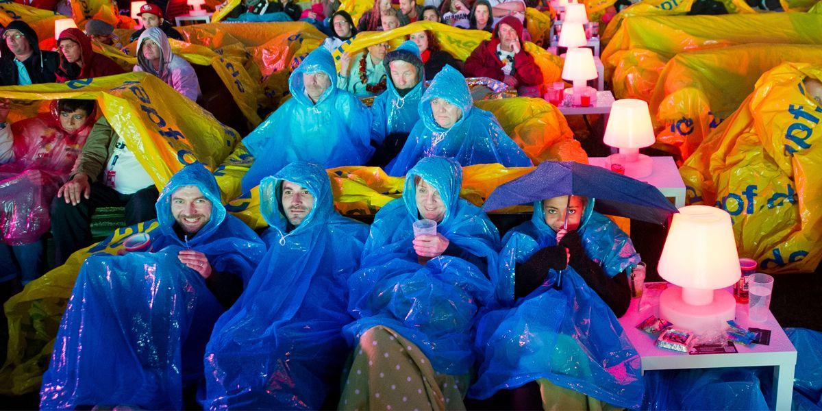 Public Viewing Regen Dpa