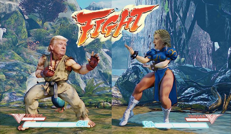 Streetfighter Clinton Trump