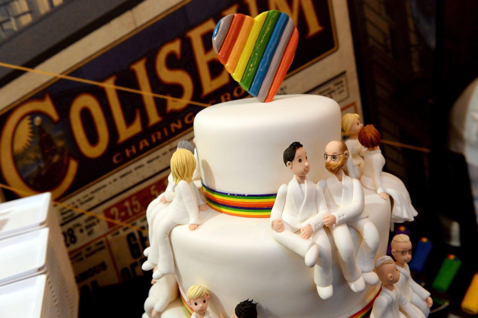 Homo Schwul Lesbisch Hochzeit Torte