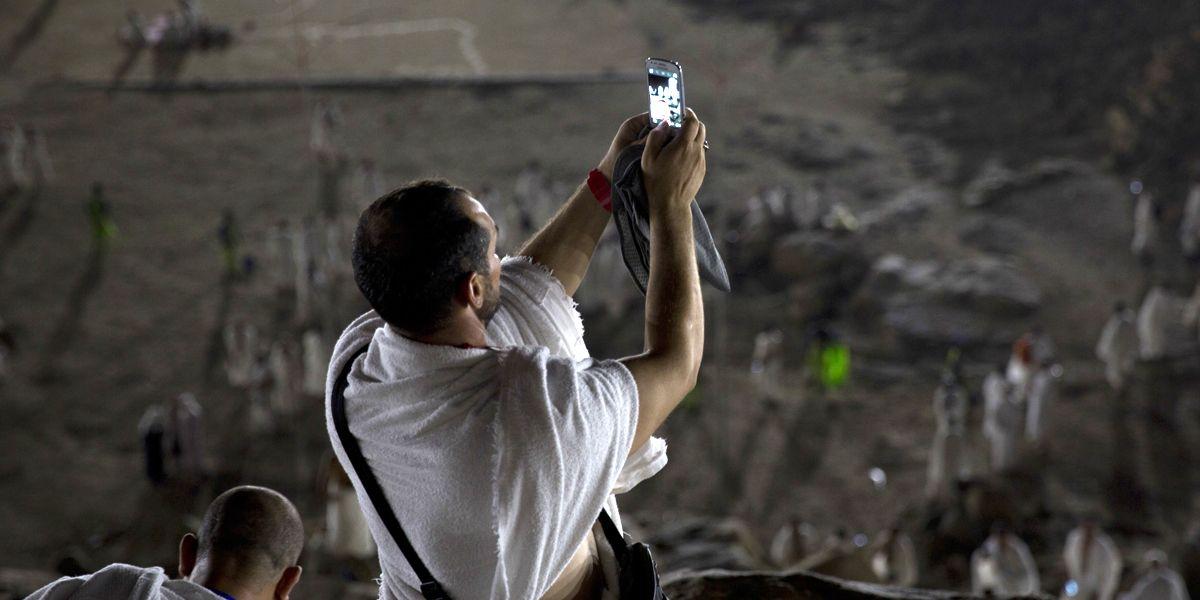 Mekka Selfie Hadsch Dpa