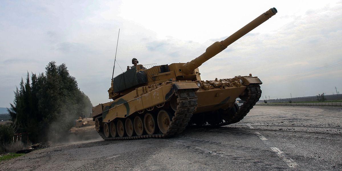 Tuerkei Panzer Dpa