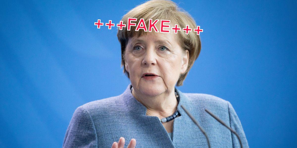 Merkel Fake Essen Neu