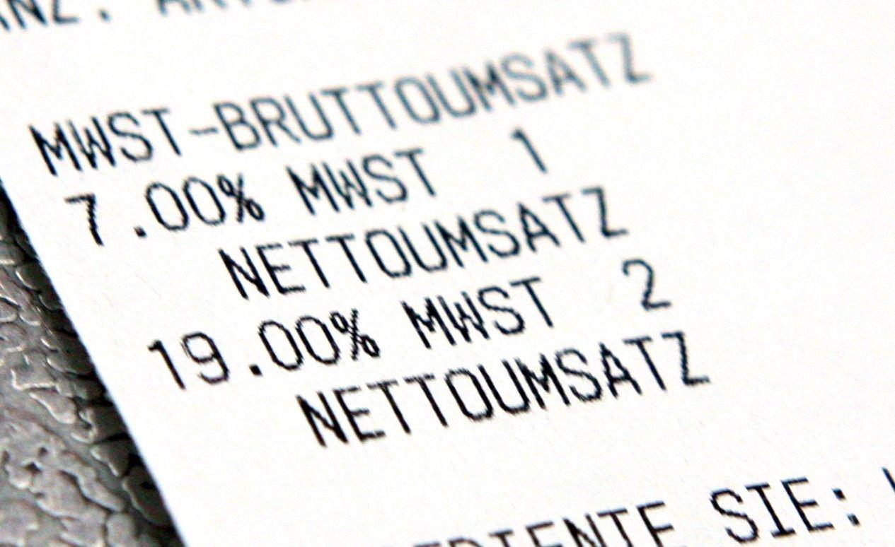 Kassenzettel Mehrwertsteuer