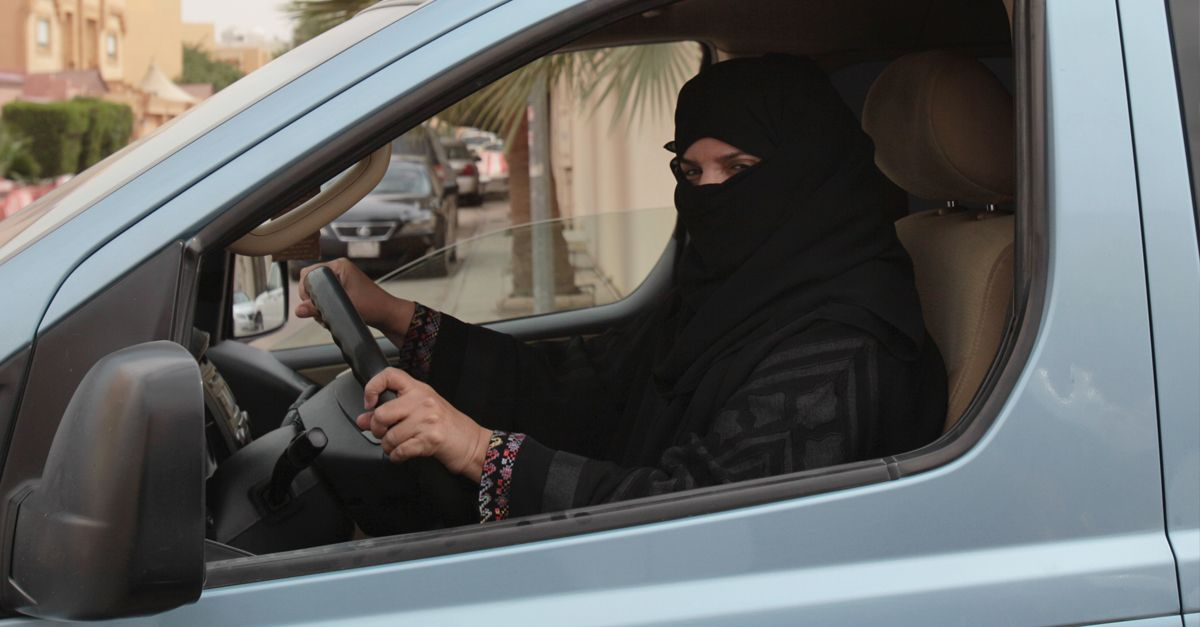 Saudi Frau Auto Dpa