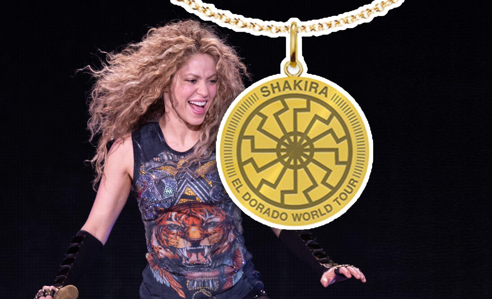 Shakira verkauft zur El-Dorado-Tour Nazi-Symbol Schwarze Sonne im Fanshop -  DER SPIEGEL