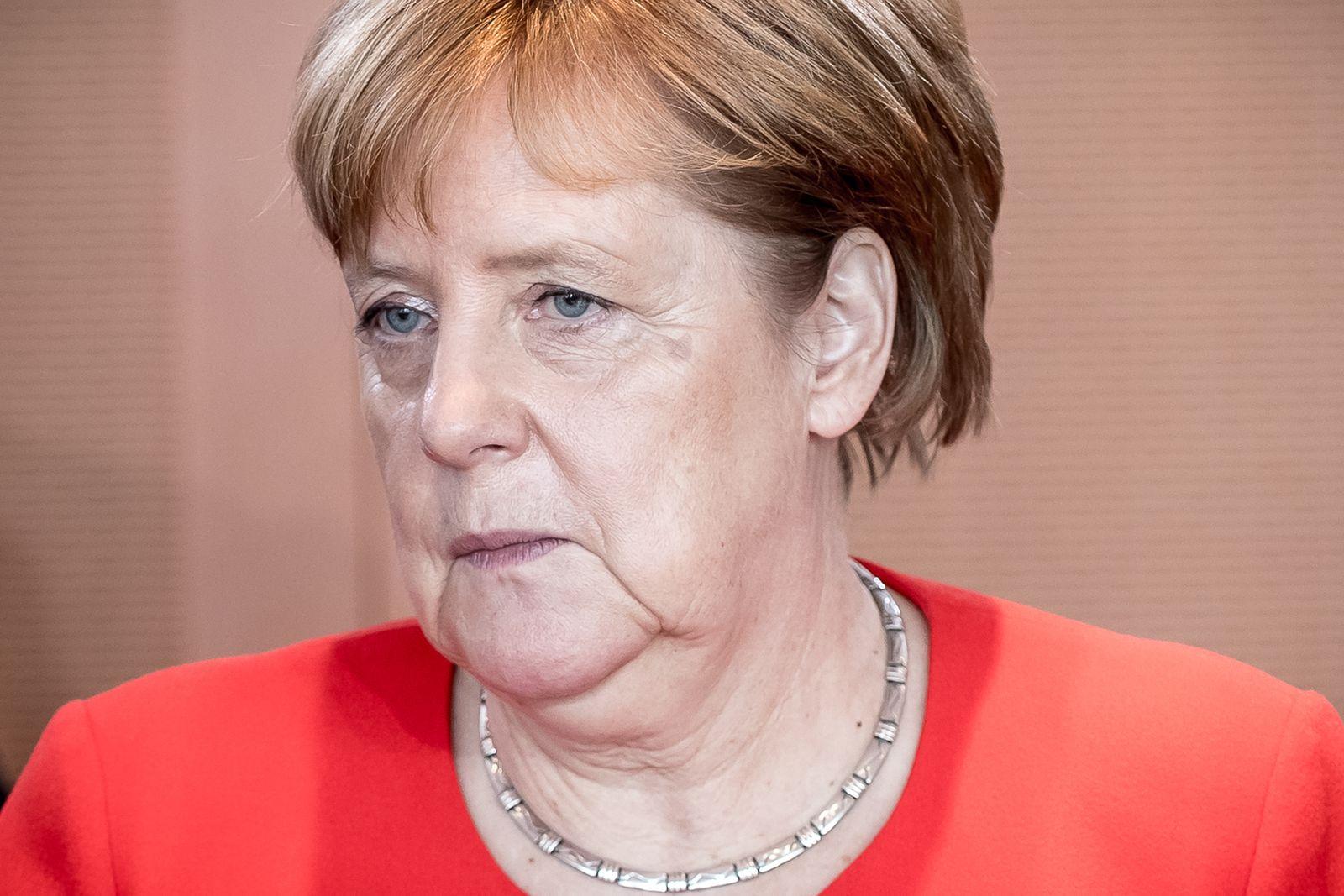 Angela Merkel trauriges Gesicht dpa