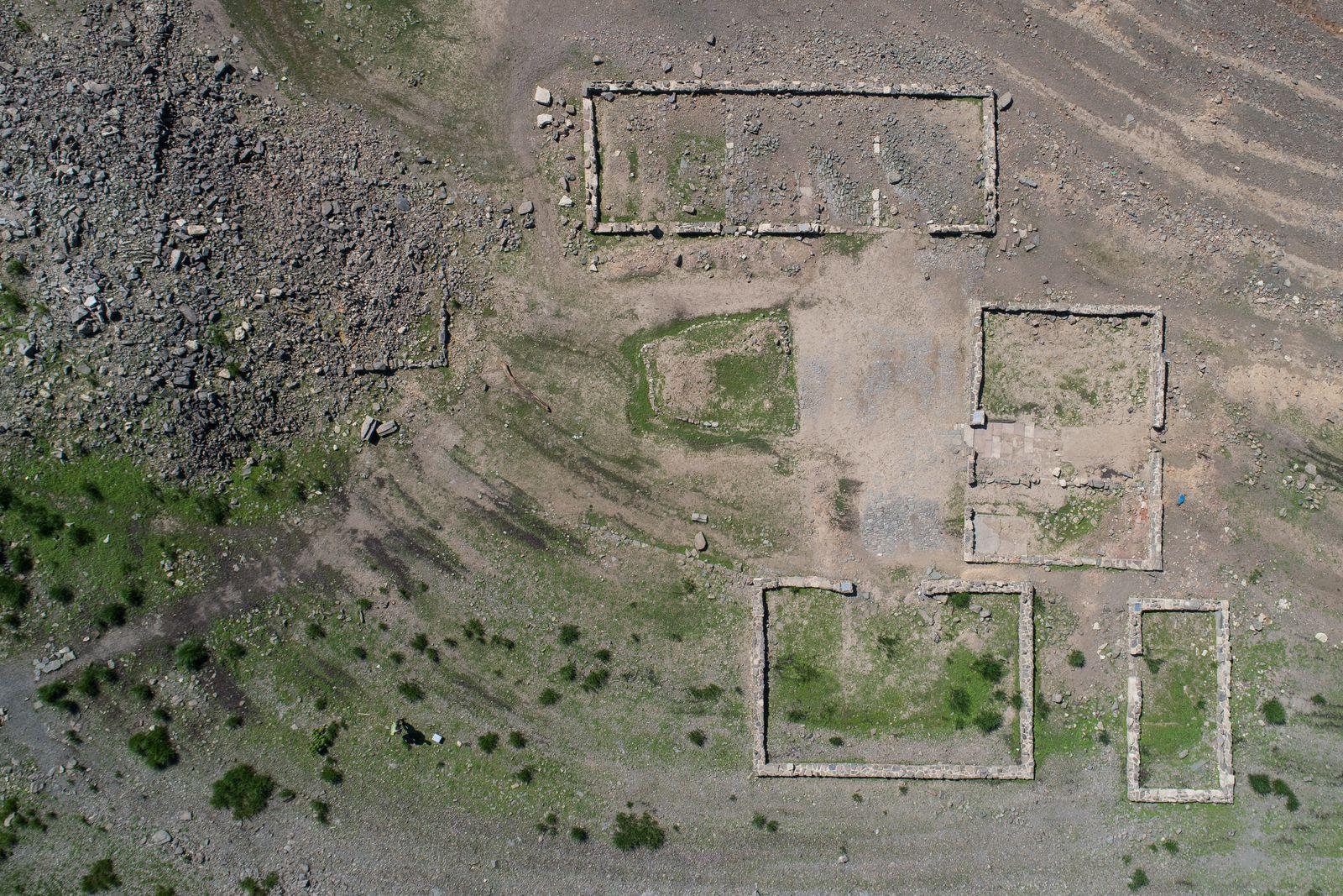Dorf Ruine