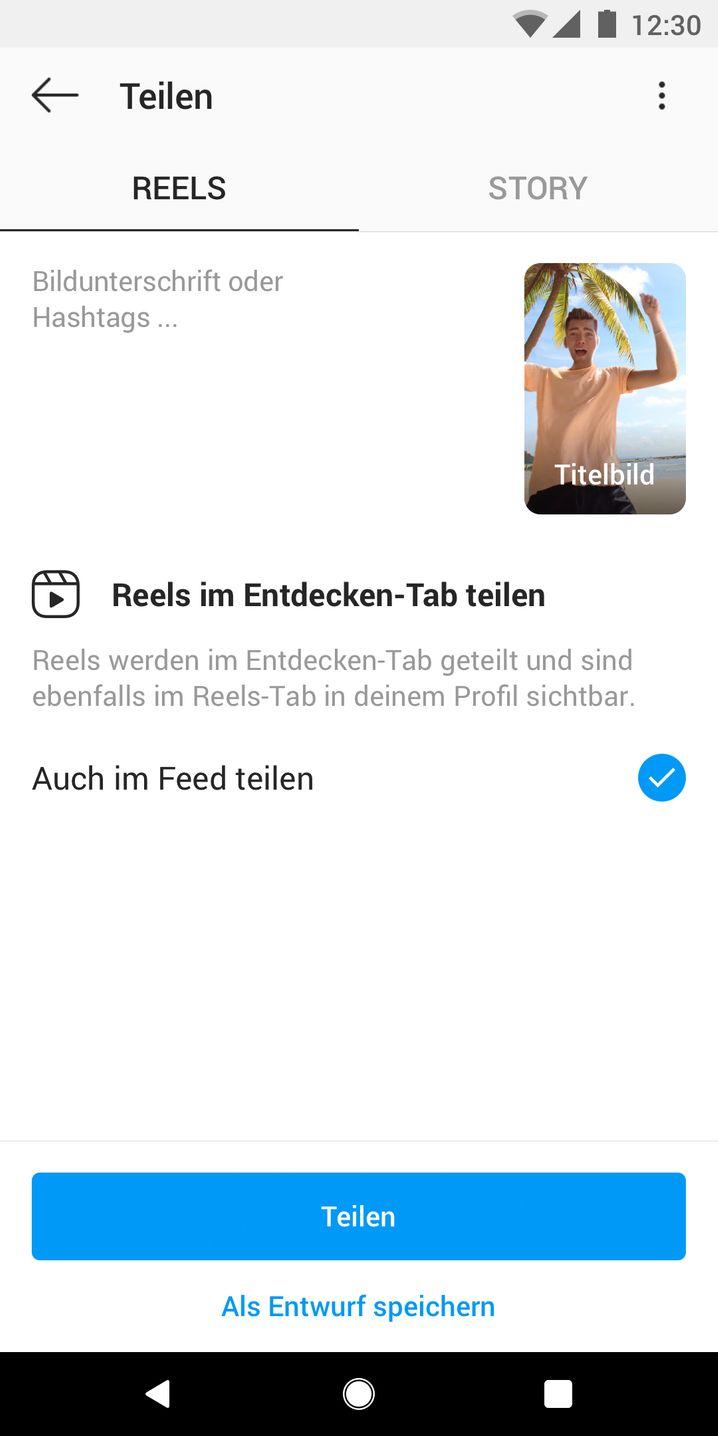 Reels-Videos werden direkt in der Instagram-App aufgezeichnet und geteilt