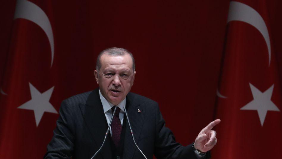 """Recep Tayyip Erdogan spricht von """"Verrat"""" an den Palästinensern durch ihre arabischen Nachbarn"""