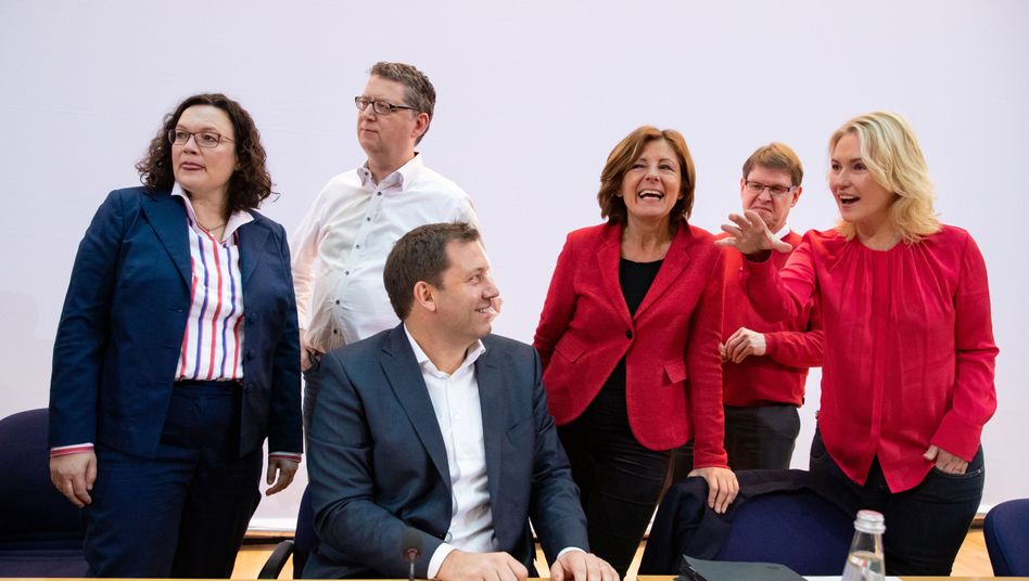 SPD-Spitzenpolitiker bei der Vorstandsklausur (am 10. Februar in Berlin)