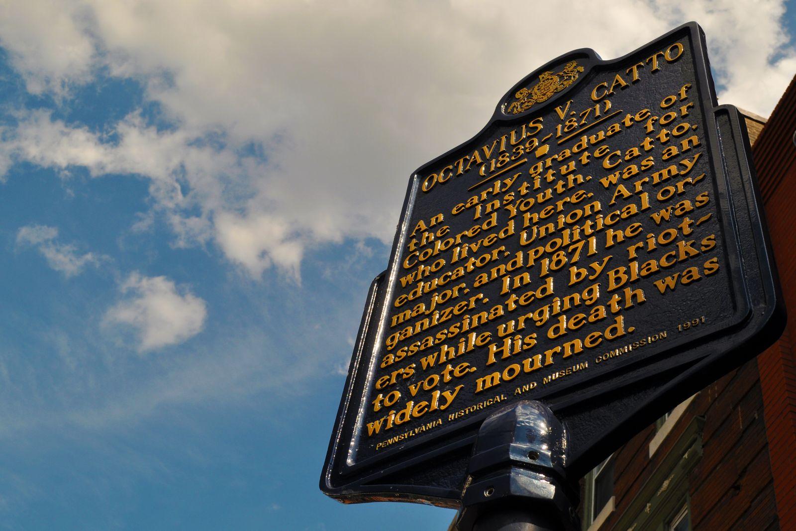 Octavius V Catto Home Historical Marker 812 South St Philadelphia PA 19147