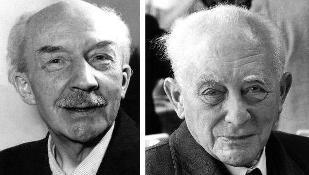 Physik-Nobelpreisträger 1954: Max Bothe (l.) und Max Born
