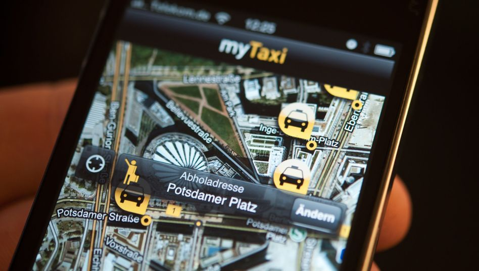 The taxi-booking app myTaxi is fast becoming a competitor to the traditional dispatch business in Germany.
