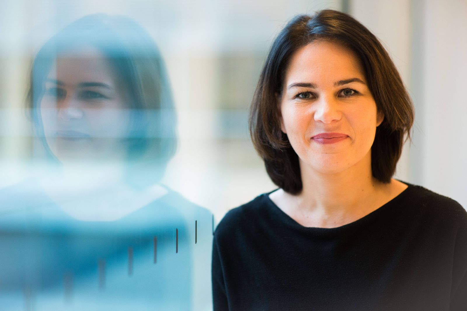 Annalena Baerbock im Interview / Portrait Bundesvorsitzende der GRÜNEN, Annalena Baerbock, anlässlich eines Interviews
