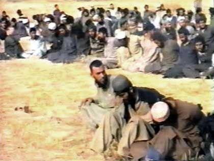 In der Wüste verscharrt: Gefangene Taliban