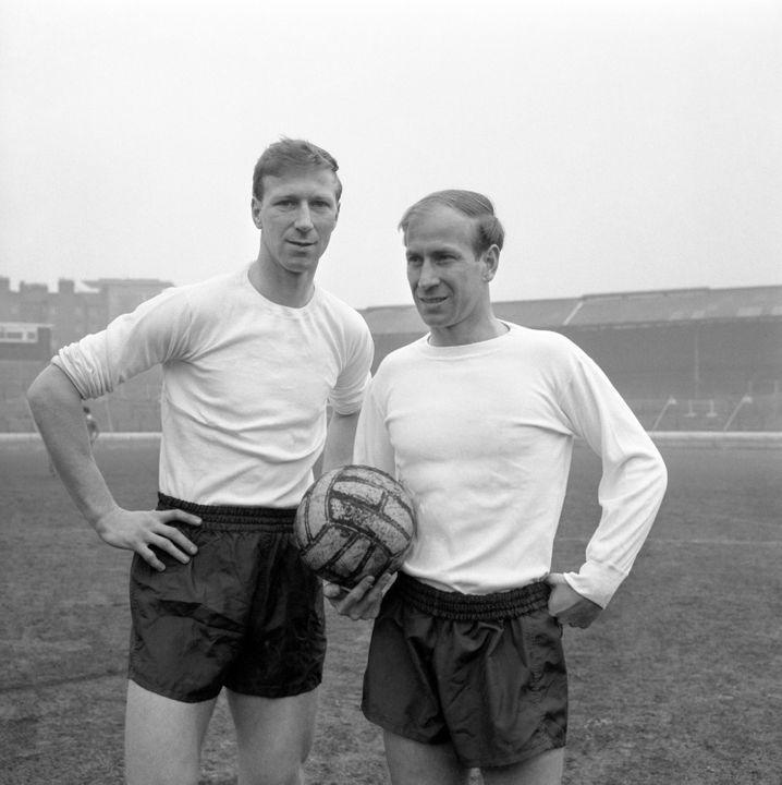Jack Charlton (l.) und sein Bruder Bobby vor dem legendären Sieg von 1966