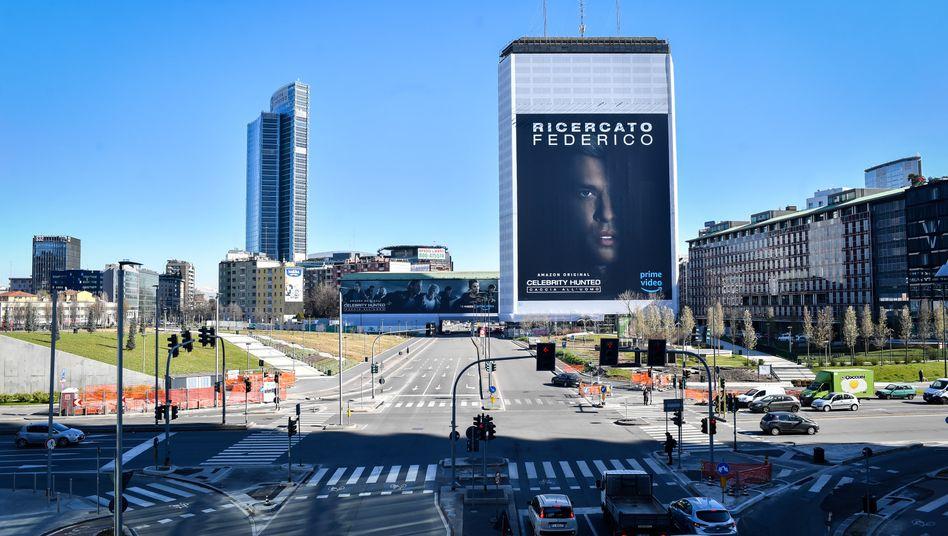 Piazza Gae Aulentiin Mailand: Die Wirtschaft steht still