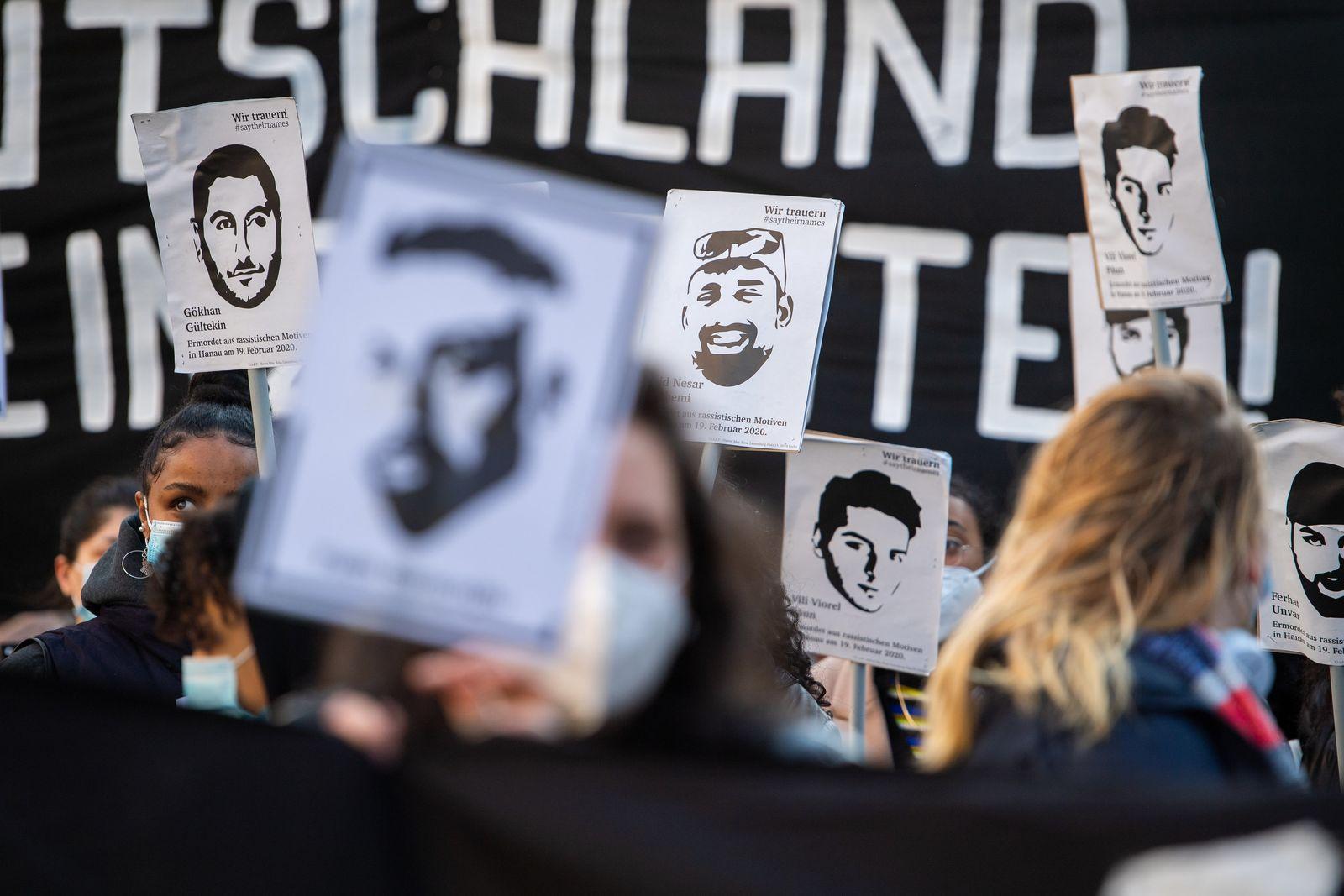 Demonstration zum Gedenken an die Opfer von Hanau