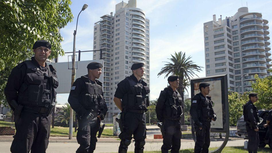 Sicherheitskräfte vor israelischer Botschaft in Montevideo: Anschlagsversuch im Januar