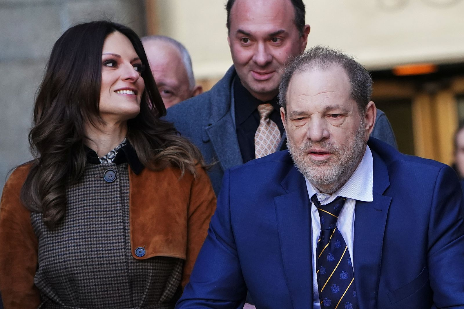 Film producer Harvey Weinstein and lawyer Donna Rotunno depart New York Criminal Court during his ongoing sexual assault trial in the Manhattan borough of New York City