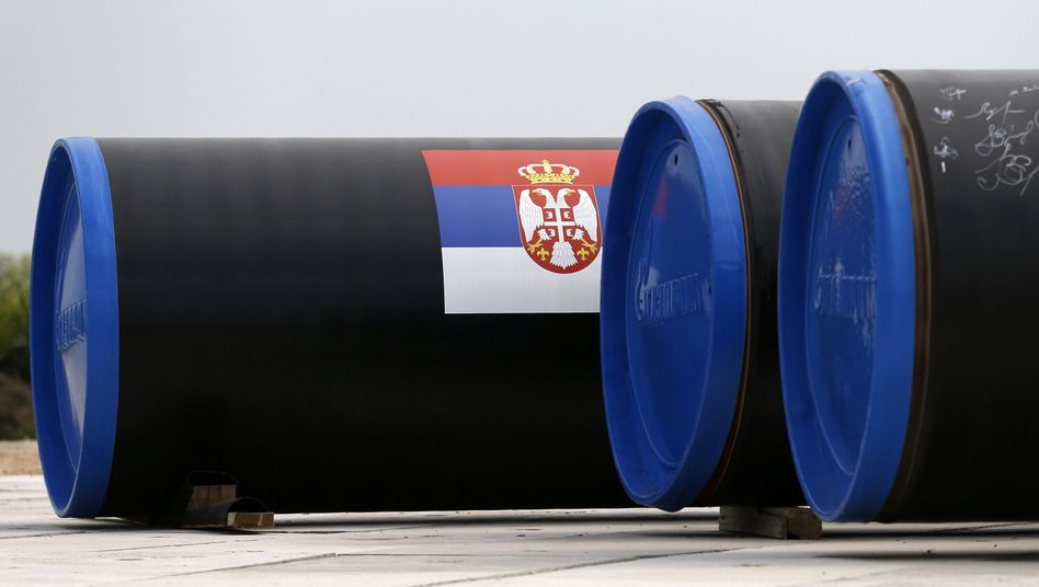 Pipeline-Teil in Serbien: South-Stream-Leitung soll Gas nach Europa bringen