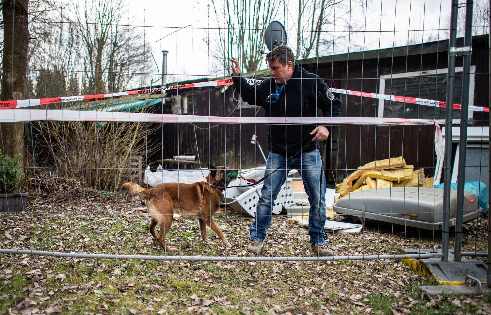 Spürhund in Lügde im Einsatz