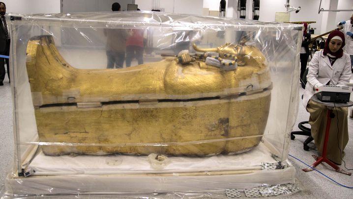 Sarg von Tutanchamun: Bröckelnde Ruhestätte des Pharaos