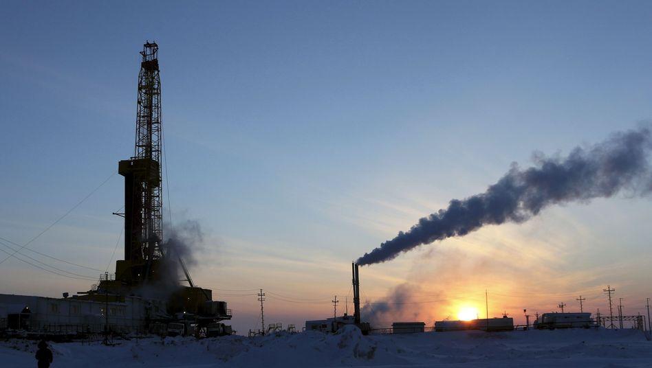Rosneft-Ölfeld nördlich von Krasnojarsk (März 2015): Ölproduktion auf Rekordhöhe