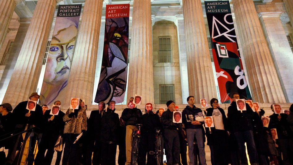 National Portrait Gallery in Washington D.C.: Proteste gegen die Zensur von Wojnarowicz