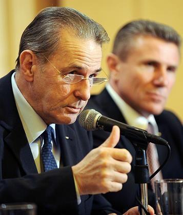 """IOC-Präsident Rogge: """"Sache der Regierungschefs, ob sie nach Peking kommen oder nicht"""""""