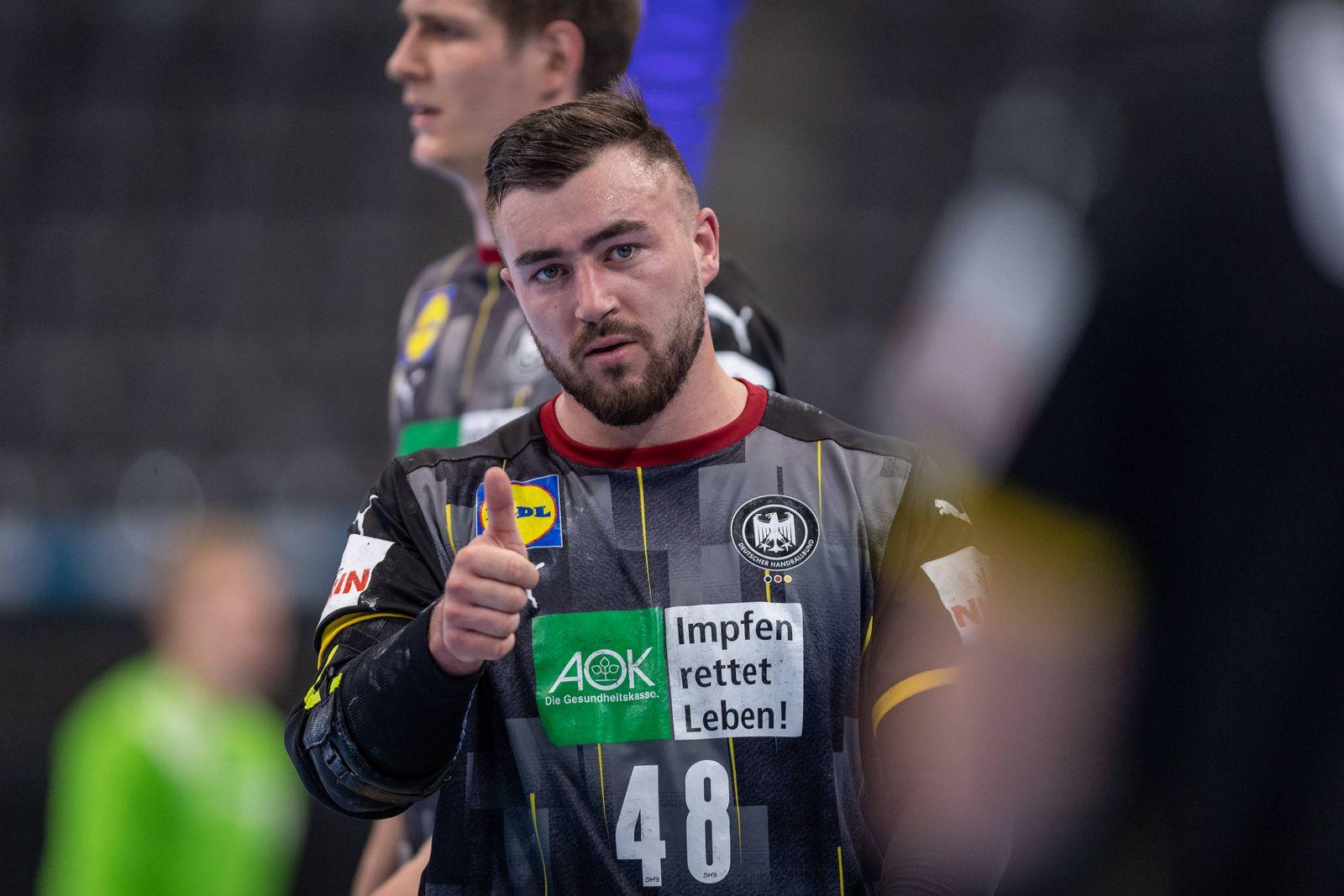 Handball Stuttgart 02.05.2021 DHB Nationalmannschaft Männer Herren Länderspiel EHF Euro 2022 Qualifikation Euro 2022 Qu