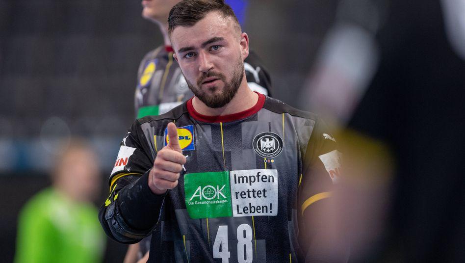 Wackelkandidaten wie Kreisläufer Jannik Kohlbacher bekamen eine Chance, sich zu beweisen