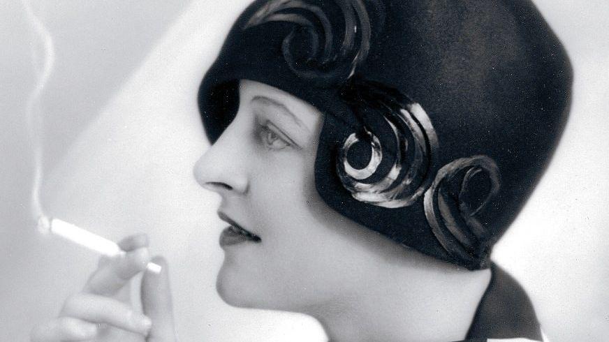 Modevorbild der Zwanzigerjahre: Hutmodell Fräulein d'Orloff, 1928