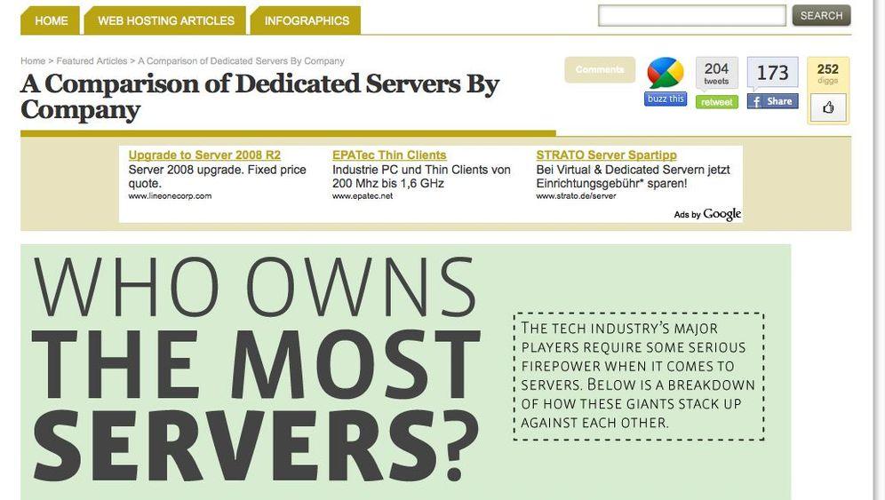 Mehr als eine Million Rechner: Wer die meisten Server hat