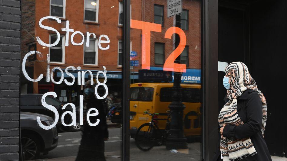 Laden in Brooklyn vor Schließung (Archivbild): Zu rosige Prognosen?