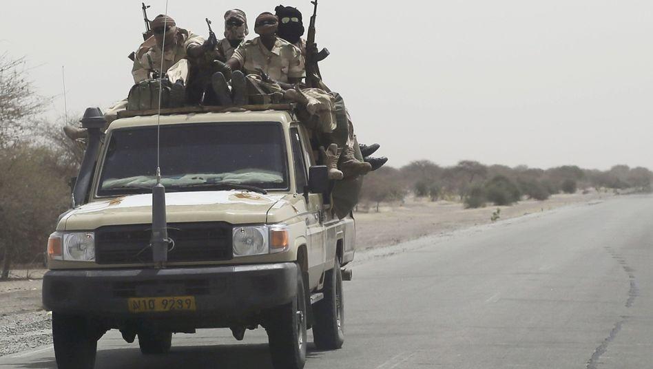 Tschadische Soldaten in der Nähe des Tschad-Sees: Einsatz im Ausland