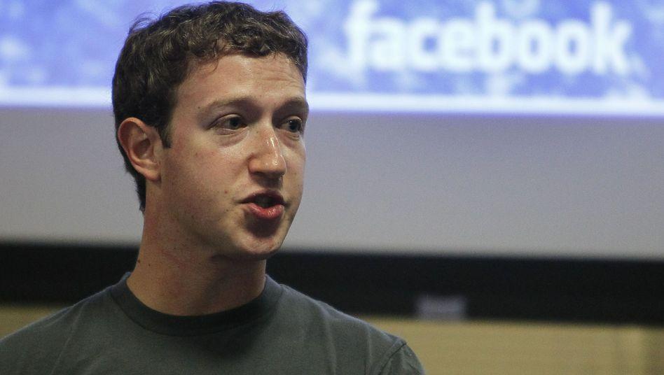 Facebook-Gründer Mark Zuckerberg: Kündigt er am Montag eine E-Mail-Dienst an?