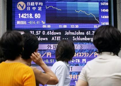 Kursschock in Tokio: Die asiatischen Märkte rutschten besonders deutlich ab