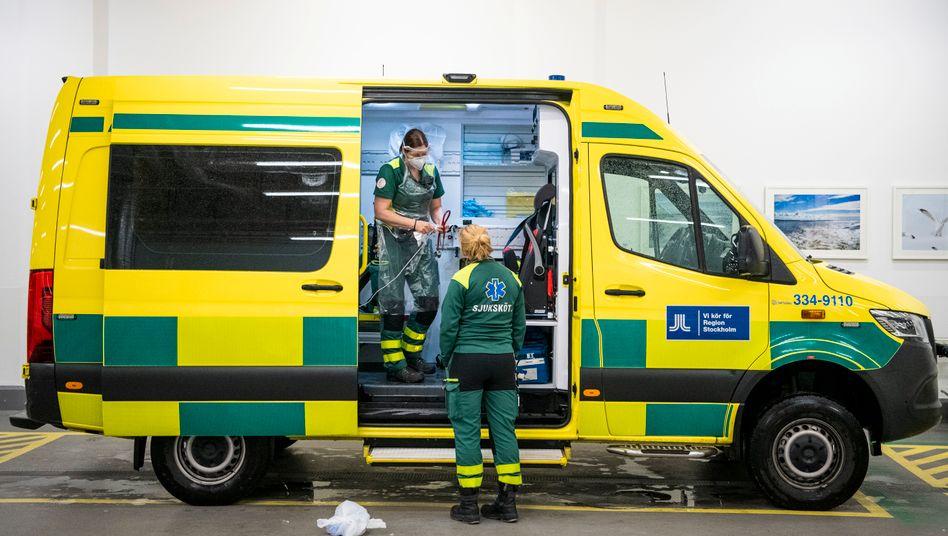 Schwedische Notfallmediziner nahe Stockholm (Archivbild)