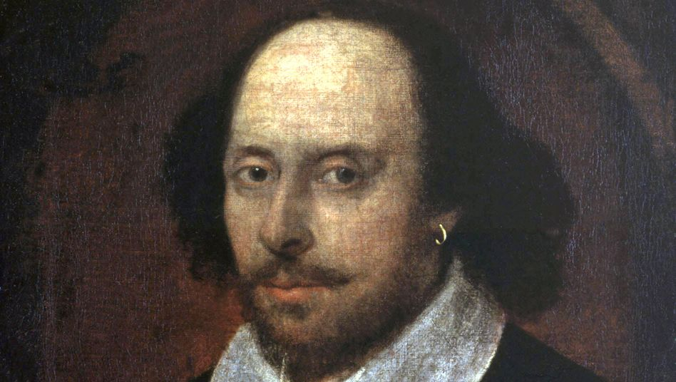 Porträt von William Shakespeare in der National Portrait Gallery in London