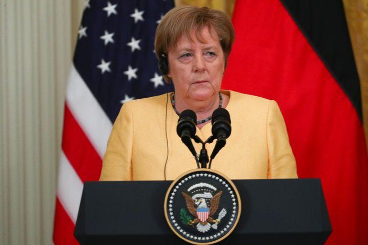 Merkel bei ihrem US-Besuch