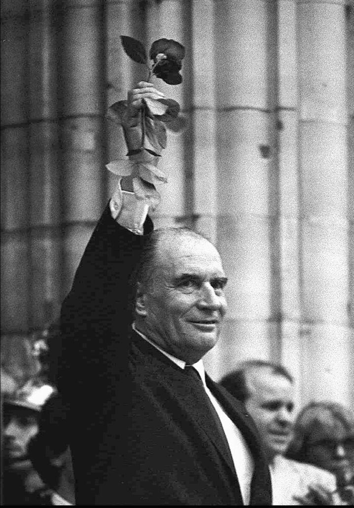 Francois Mitterrand am 21. Mai 1981 nach seiner Wahl zum französischen Präsidenten
