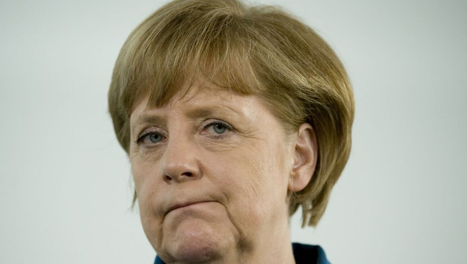 """Chancellor Angela Merkel: """"That means that we must, step by step through the process, give up more powers to Europe."""""""