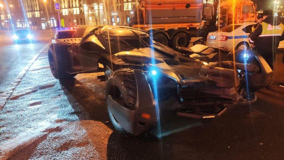 Unterwegs wie ein Superheld: Polizei stoppt Batmobil in Moskau
