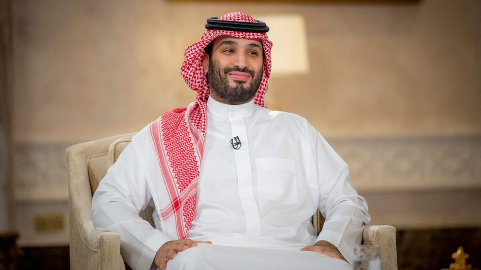 Saudi-Arabiens Kronprinz Mohammed bin Salman beim MBC-Interview