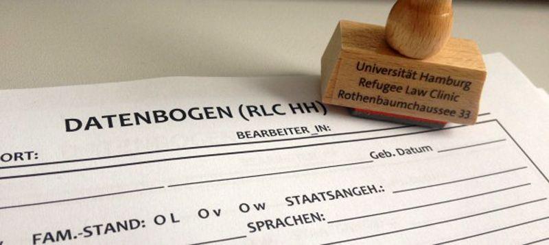 Datenbogen der Hamburger Refugee Law Clinic