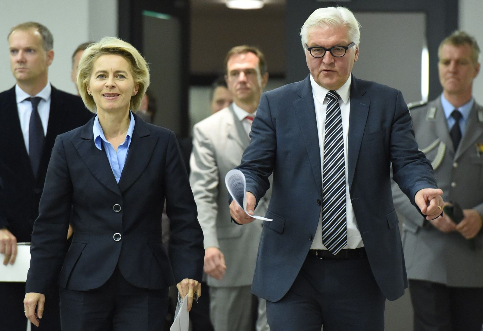 Steinmeier Leyen Waffen Kurden Irak