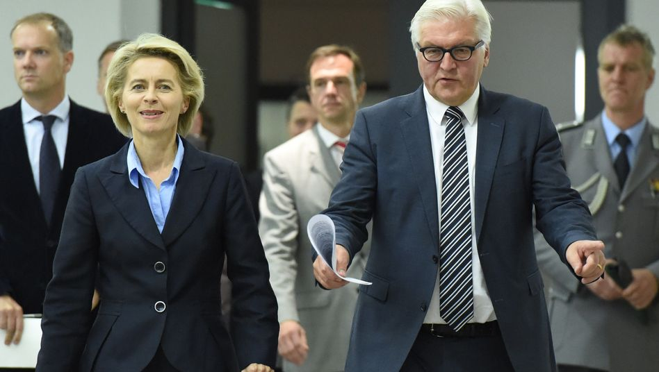 """Minister von der Leyen, Steinmeier: """"Es ist unsere humanitäre Verantwortung"""""""