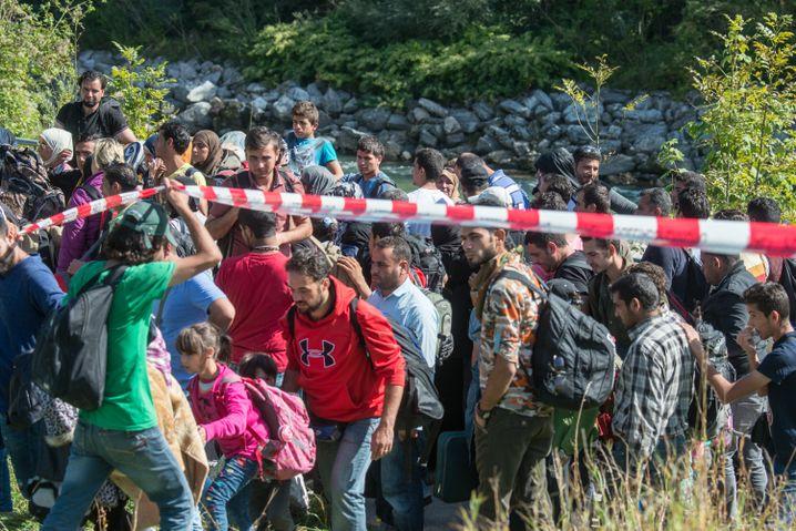 Chaotische Zustände im September an der deutsch-österreichischen Grenze zwischen Salzburg und Freilassing